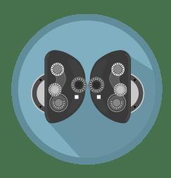 Ophthalmology eye testing instrument illustration